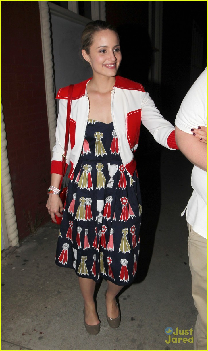 dianna agron ribbon dress 03