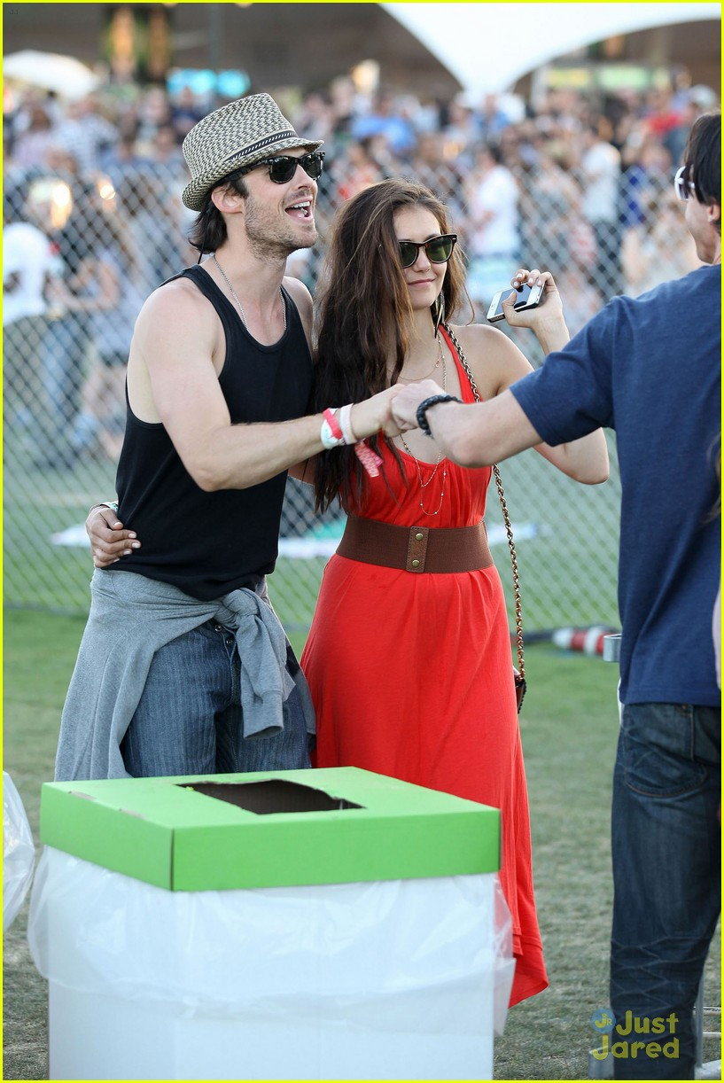 nina dobrev ian somerhalder red dress 14