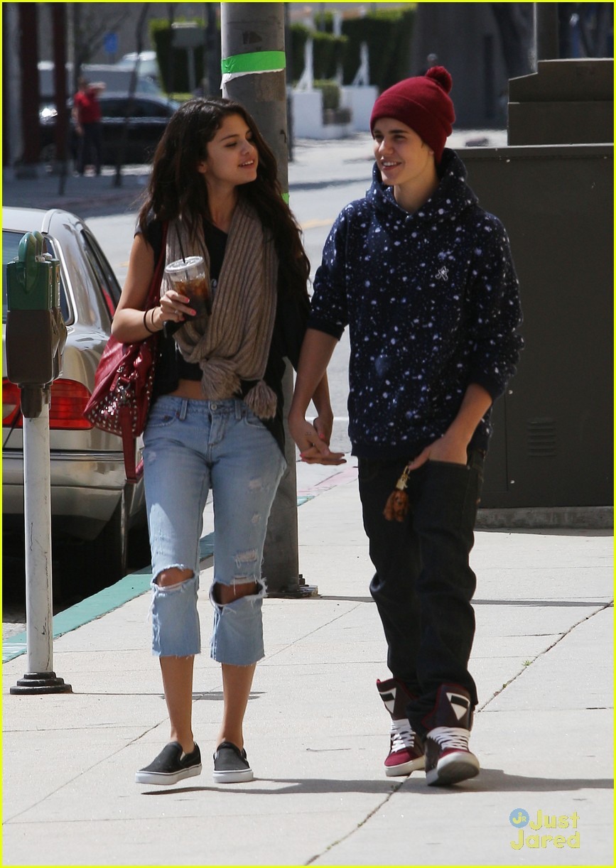 selena gomez justin bieber panera 09
