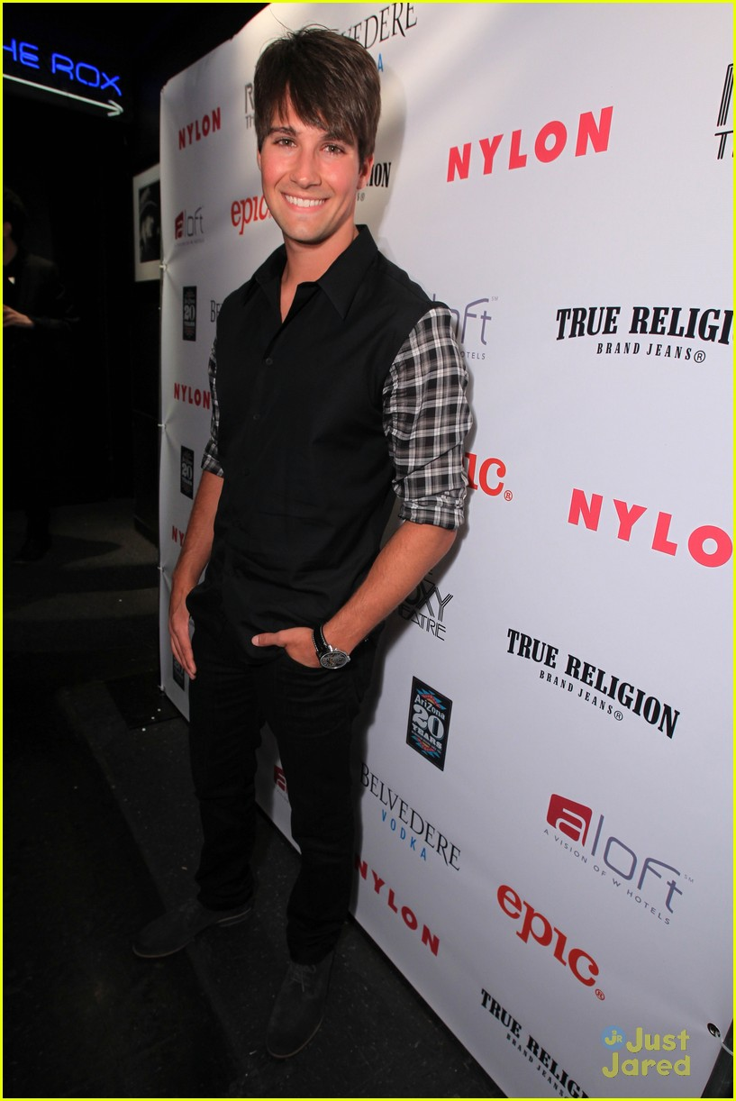 tyler blackburn james maslow nylon party 01