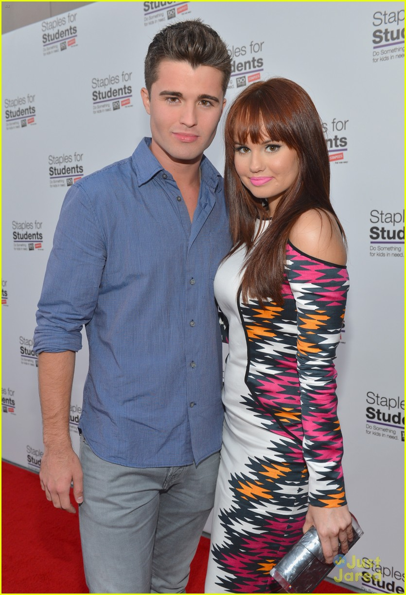 debby ryan spencer boldman staples party 04