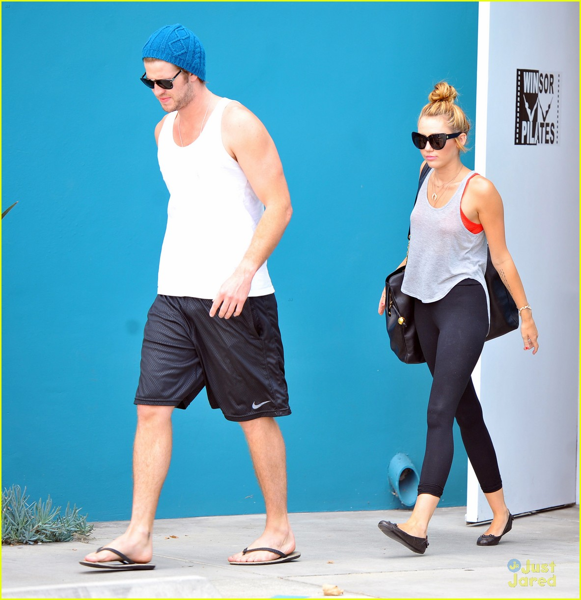 miley cyrus liam hemworth pilates 12
