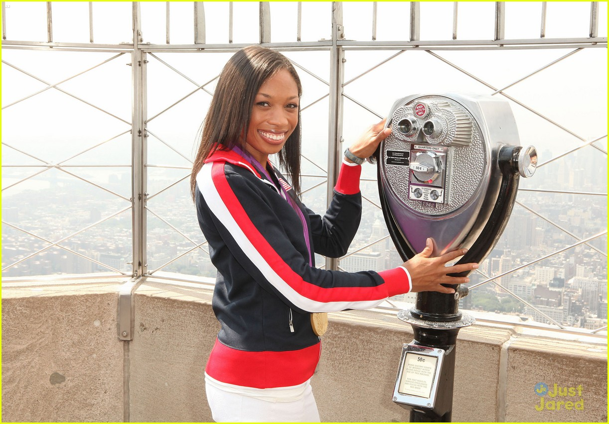 allyson felix empire state 05
