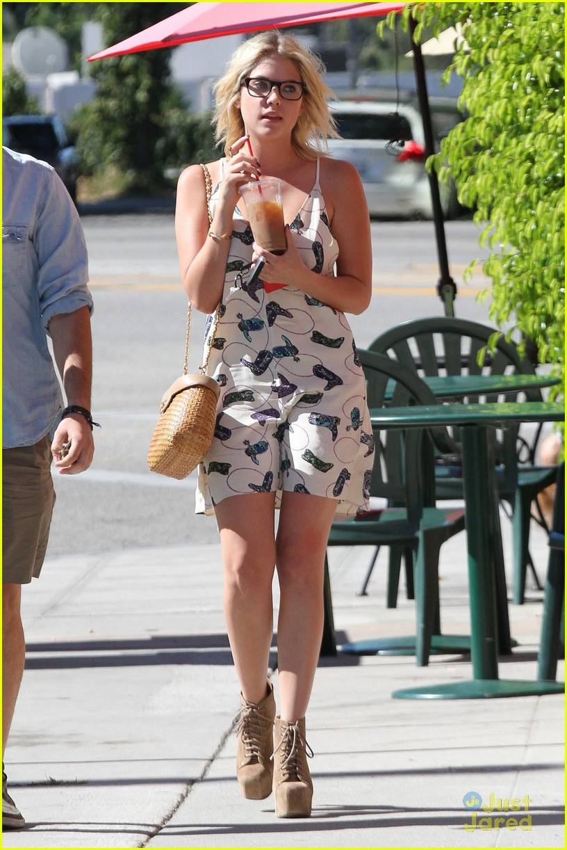 ashley benson cowboy boot dress 03