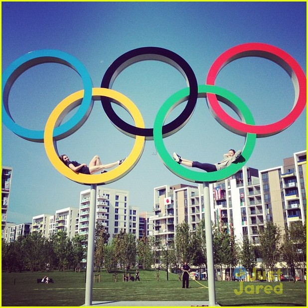 gymnasts olympic village today show 09