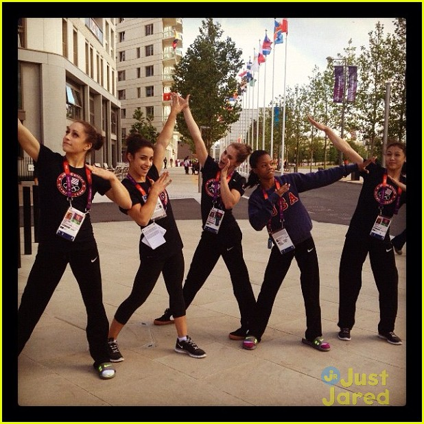 gymnasts olympic village today show 14