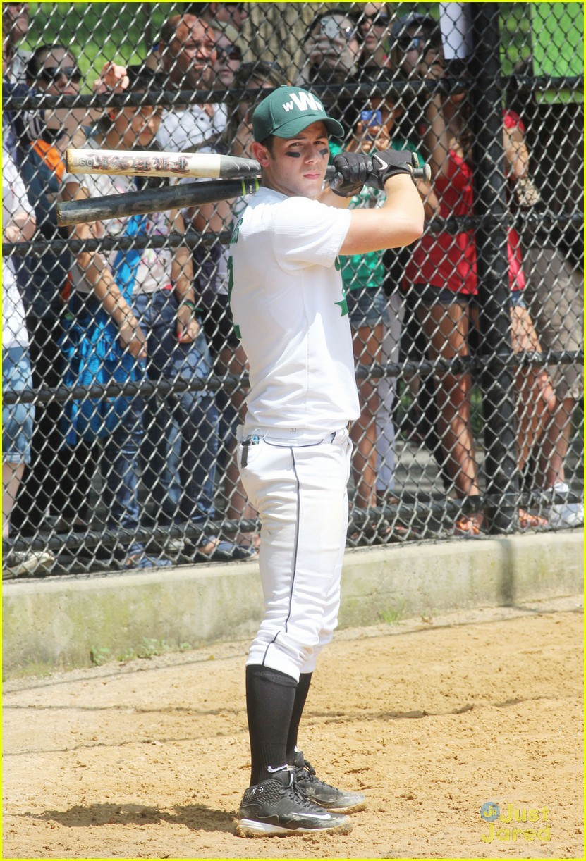 nick jonas wickets softball 08