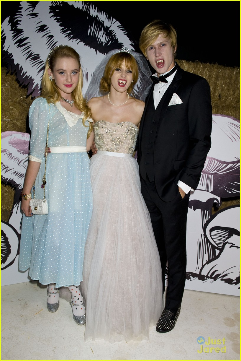 debby ryan bella thorne jj halloween party 10