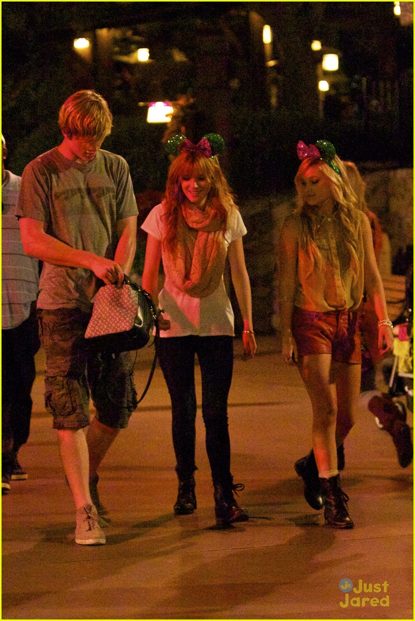 bella thorne tristan klier disneyland 01
