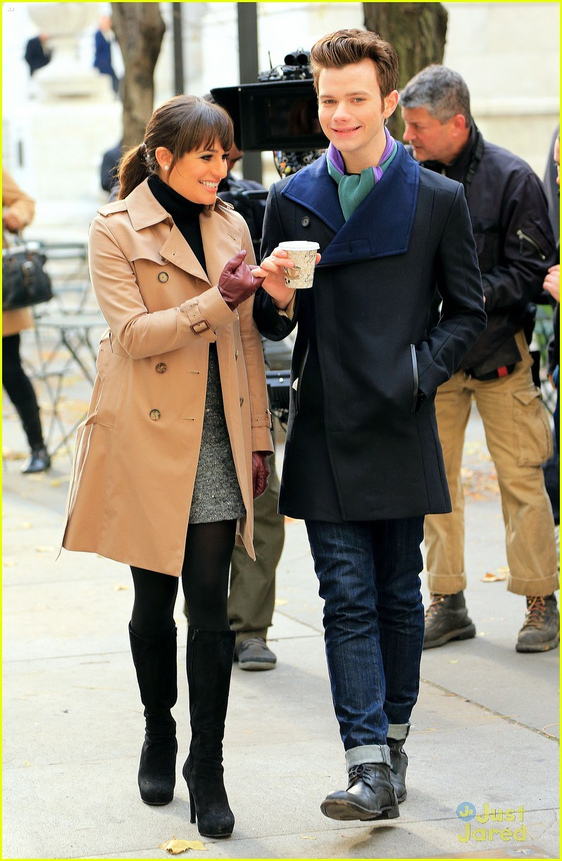 lea michele chris colfer dean geyer glee nyc 03