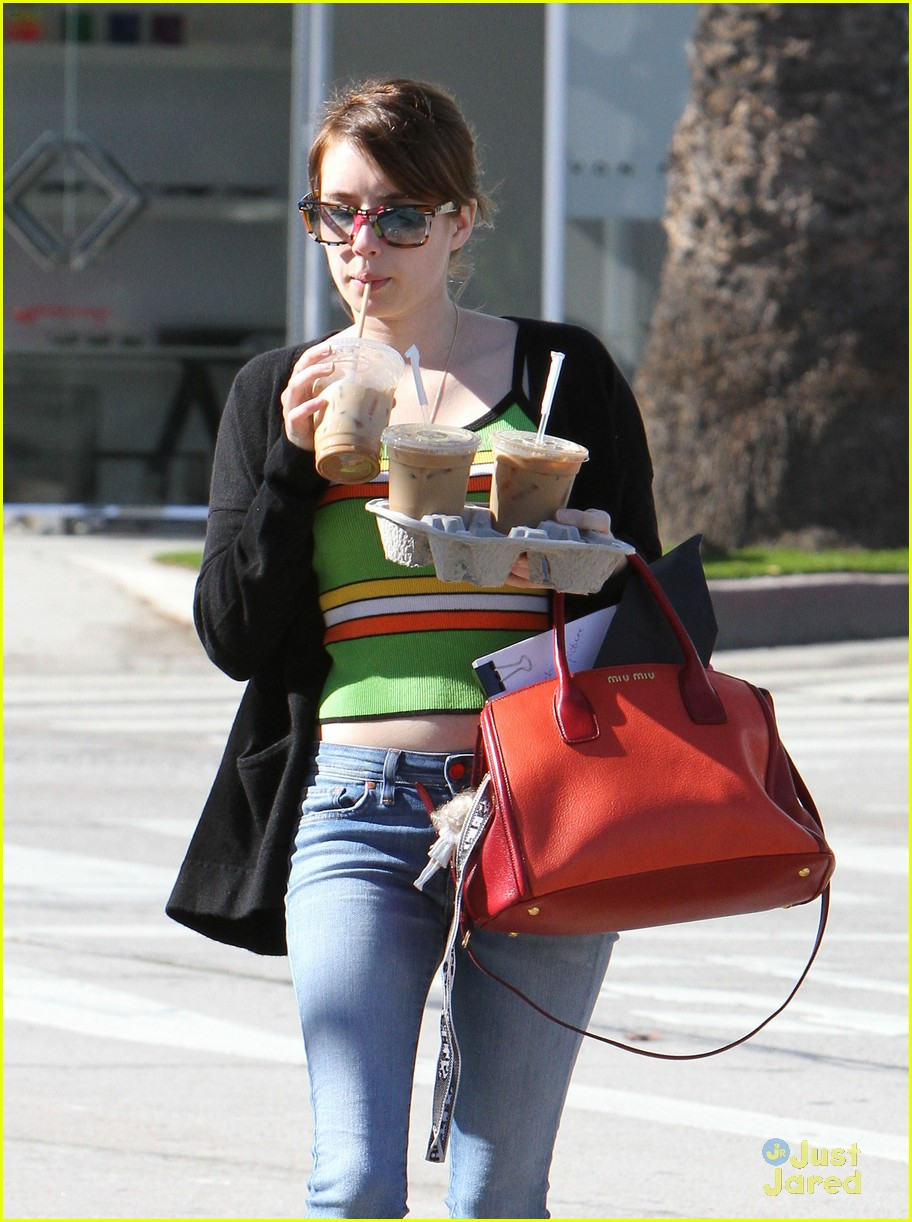 emma roberts iced coffee 10