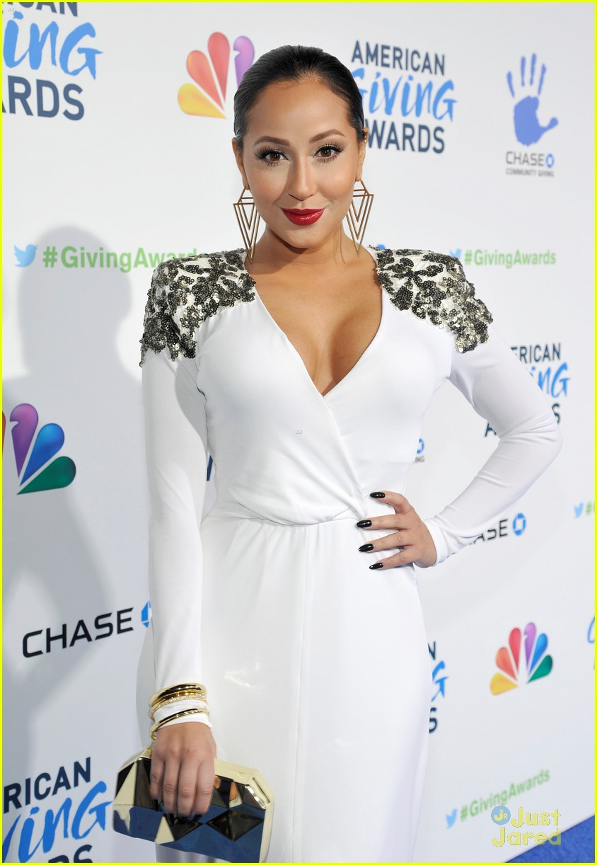 adrienne bailon giving awards xfactor viewing party 02