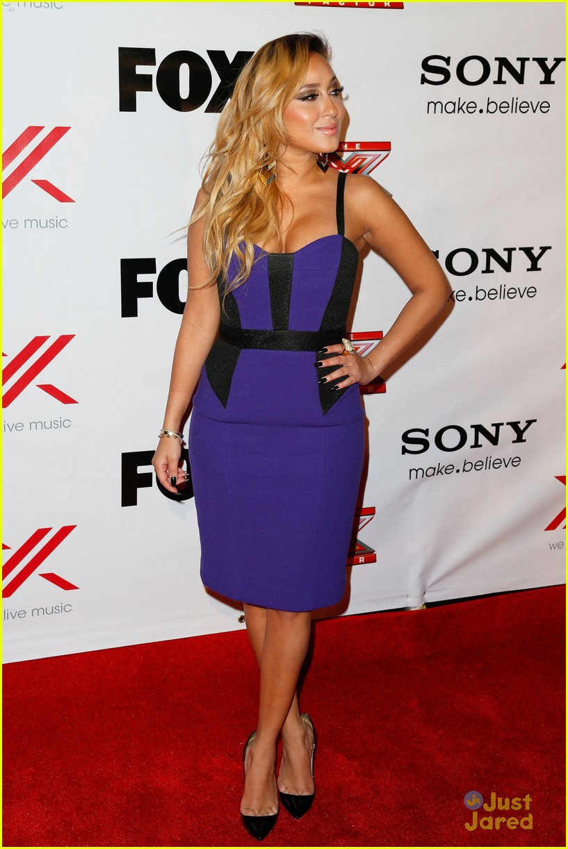 adrienne bailon giving awards xfactor viewing party 06