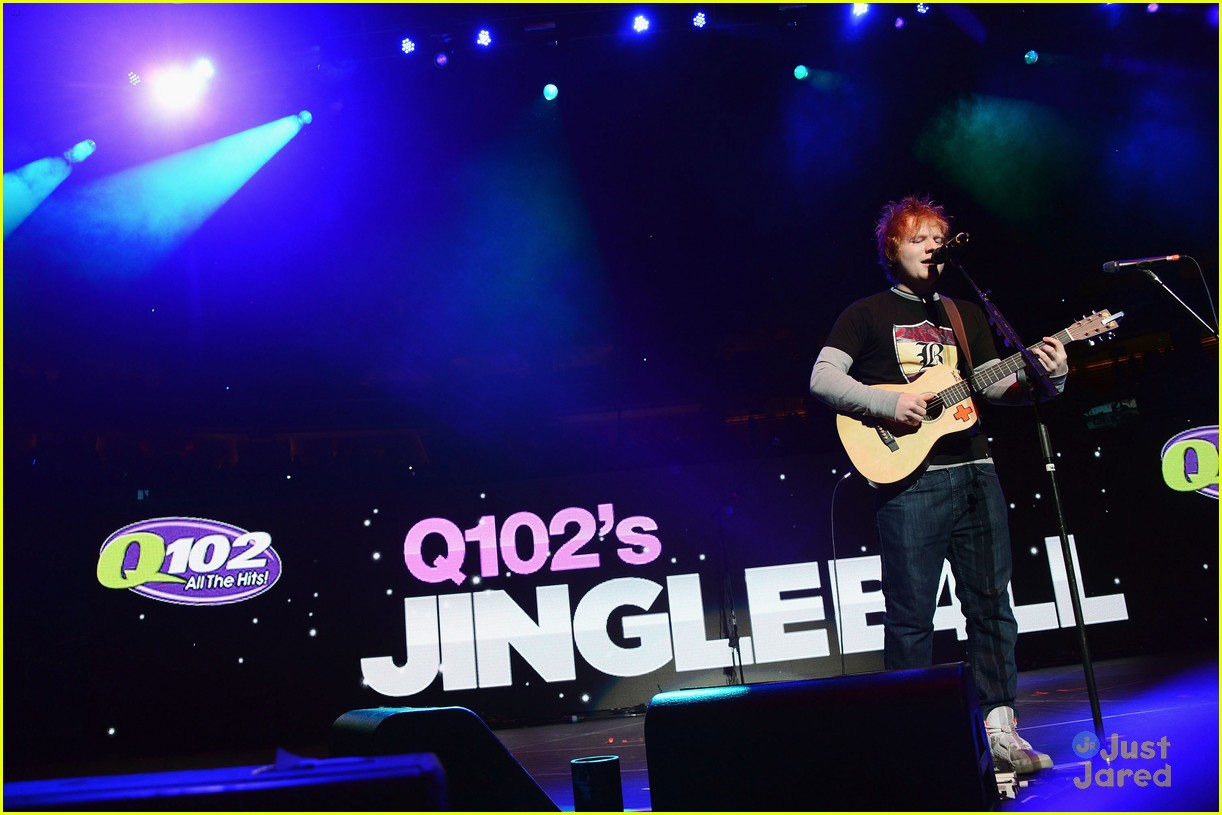 ed sheeran q102 jingle ball 07