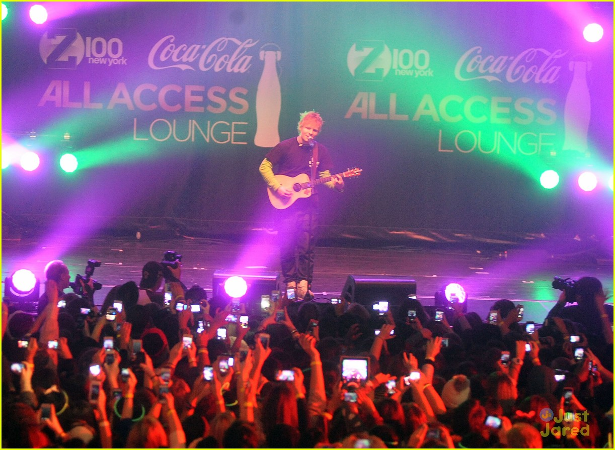 ed sheeran z100 jingle ball 13