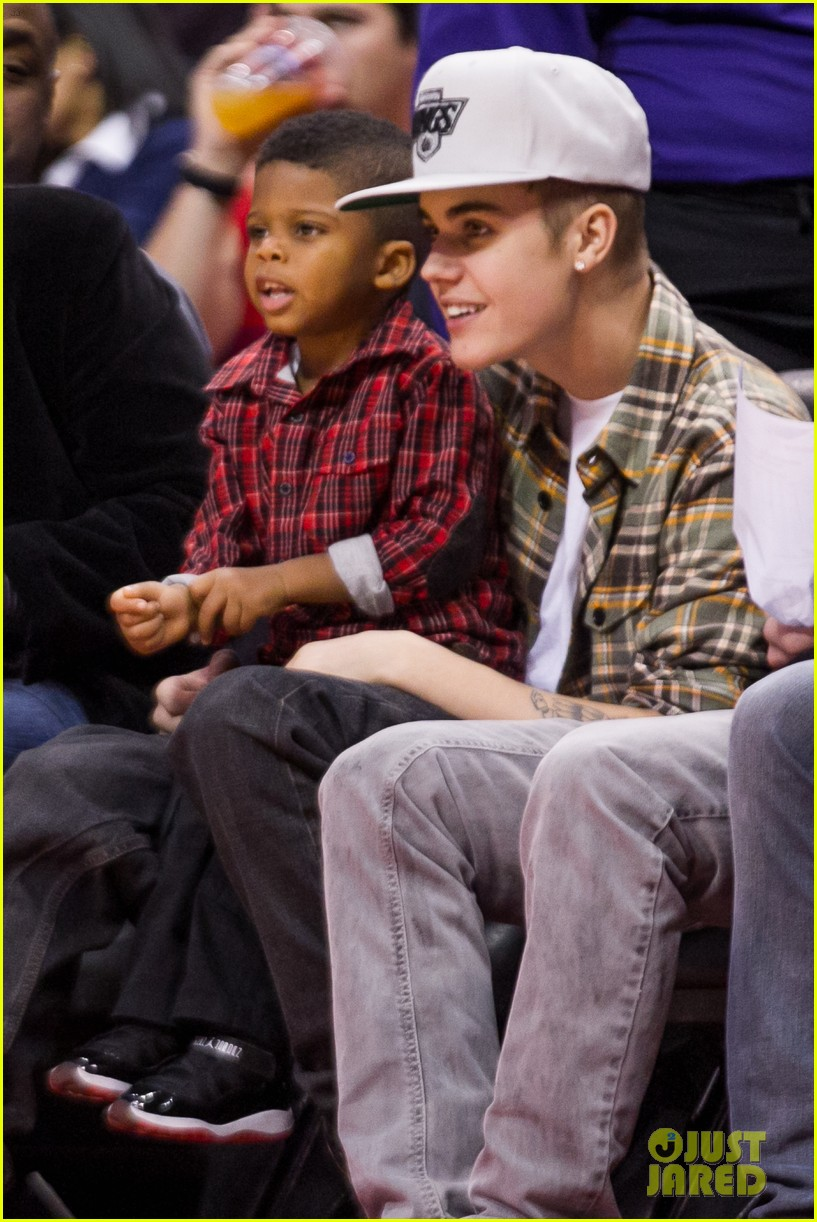 justin bieber la clippers game 02