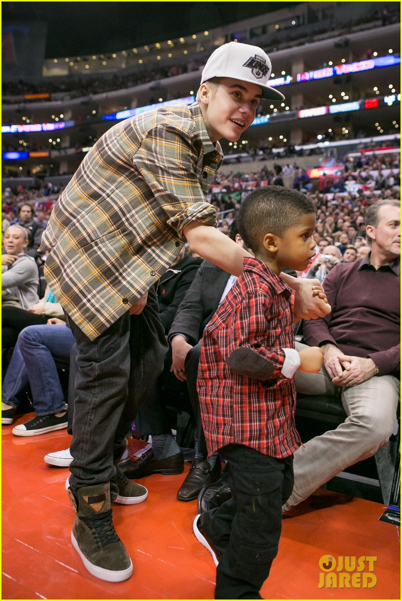 justin bieber la clippers game 03