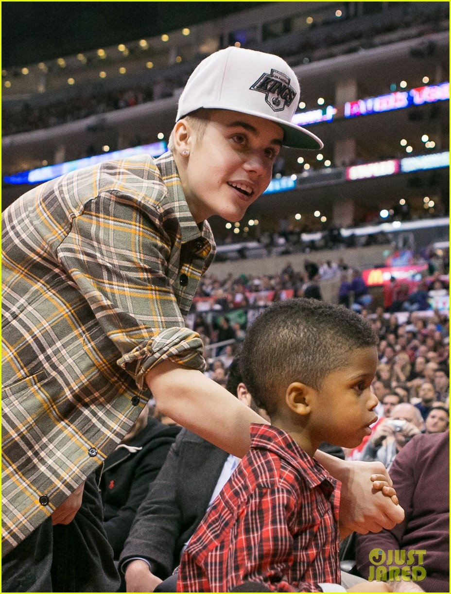 justin bieber la clippers game 05