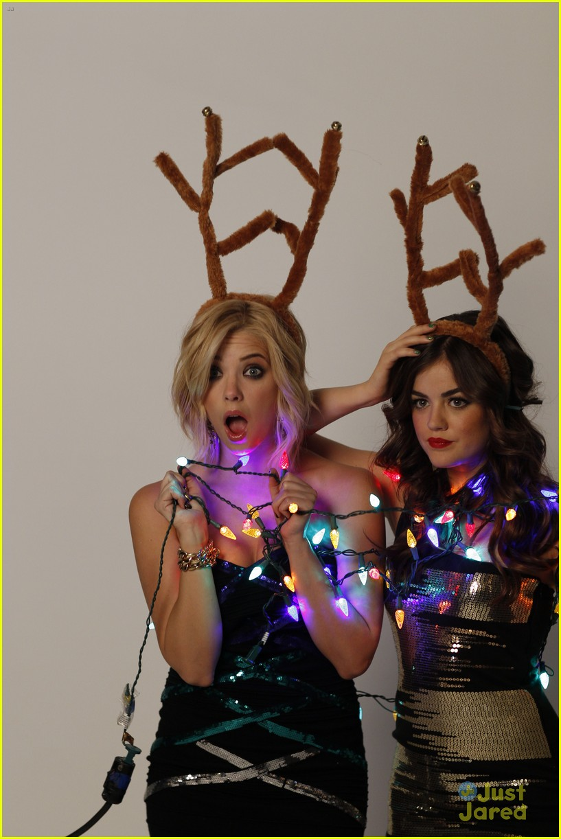 lucy hale ashley benson holiday bongo 03