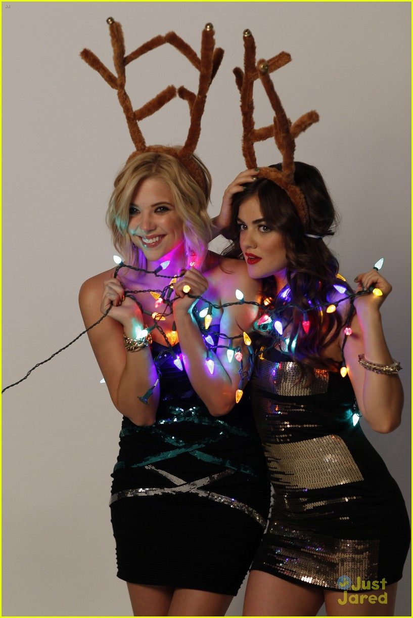 lucy hale ashley benson holiday bongo 06