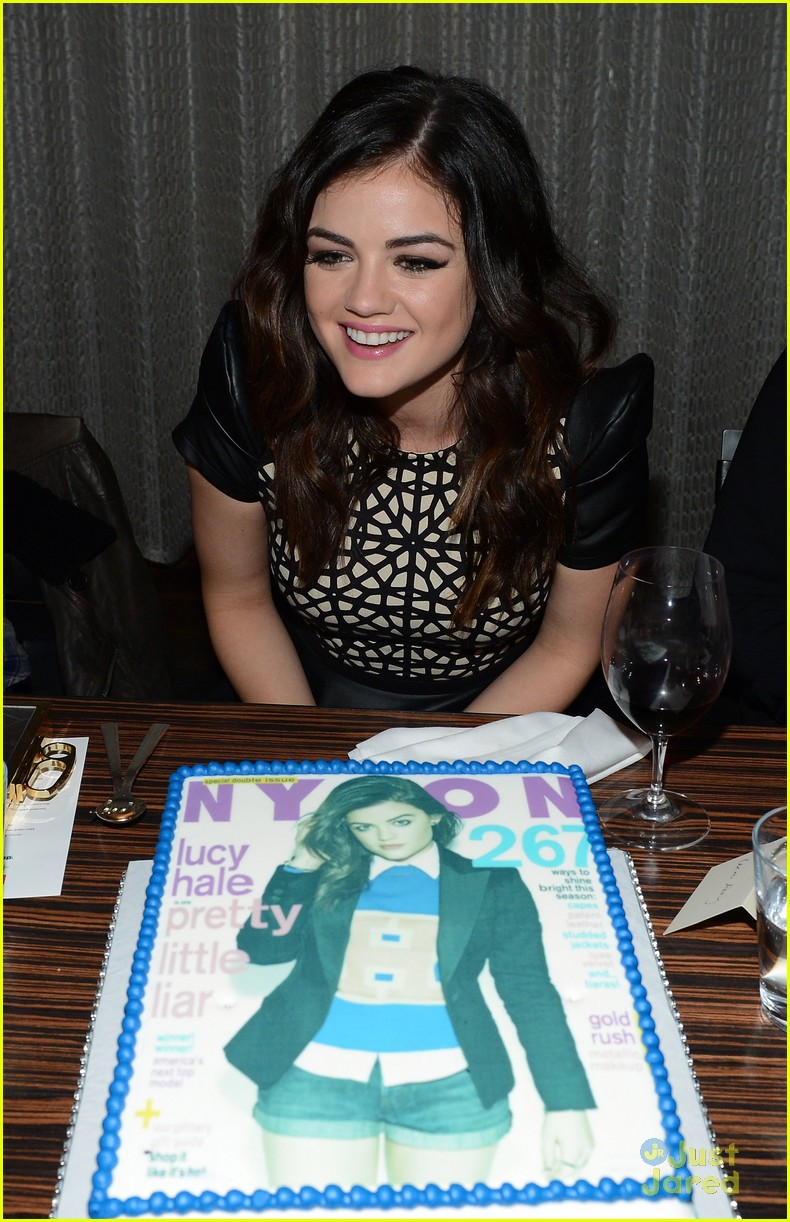 lucy hale nylon cover dinner 22