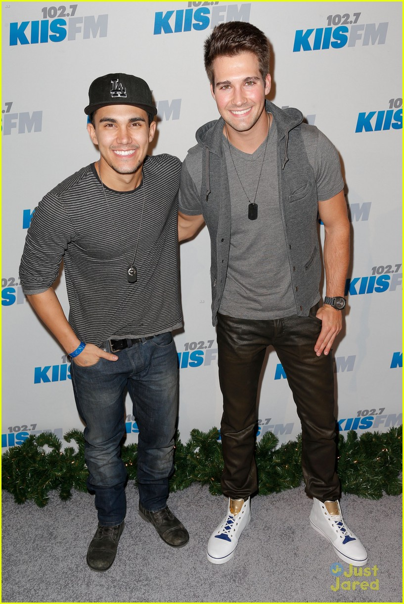 Photo of James Maslow & his friend  Carlos Pena