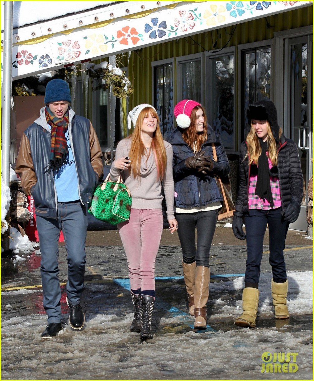 bella thorne snow tubing 04