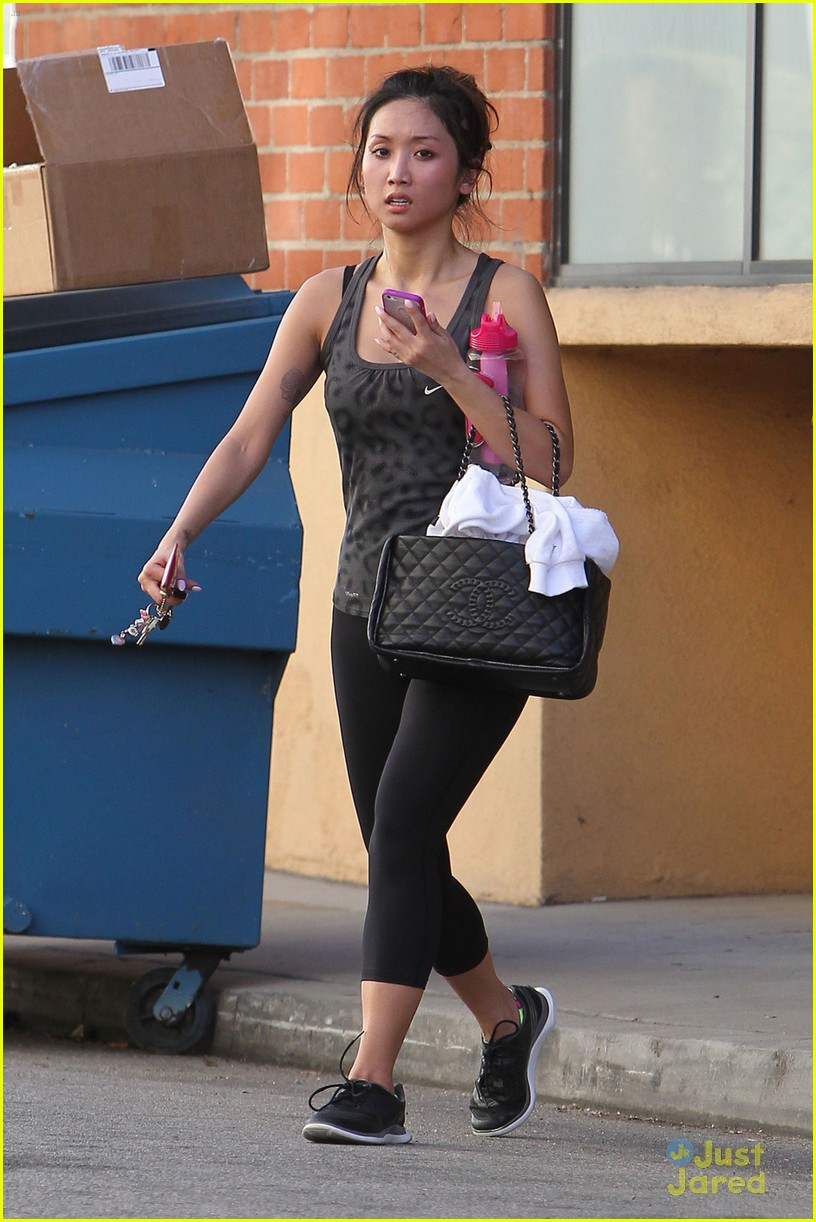 brenda song weekend workout 01