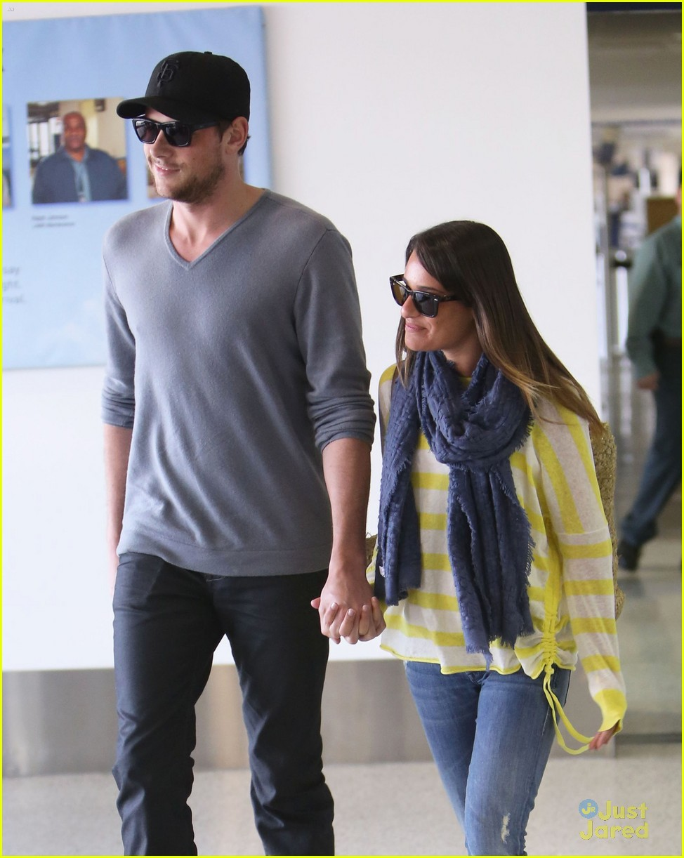 lea michele cory monteith lax 02