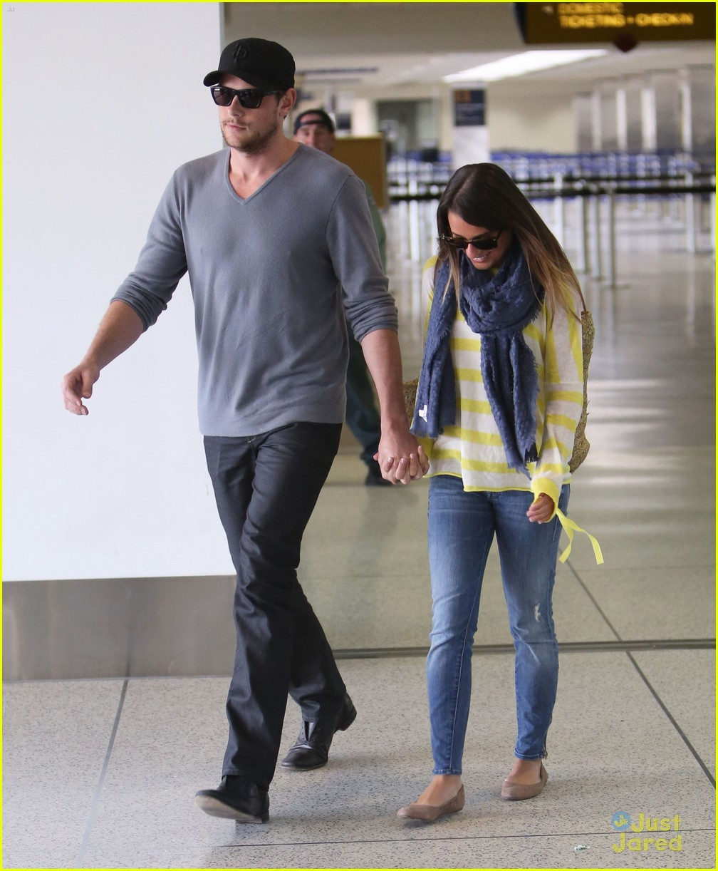 lea michele cory monteith lax 03