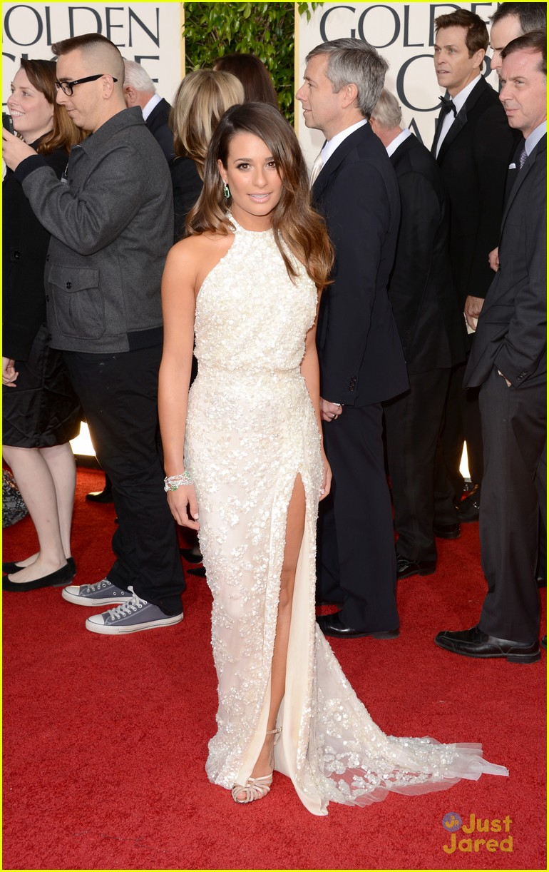 lea michele golden globes 02