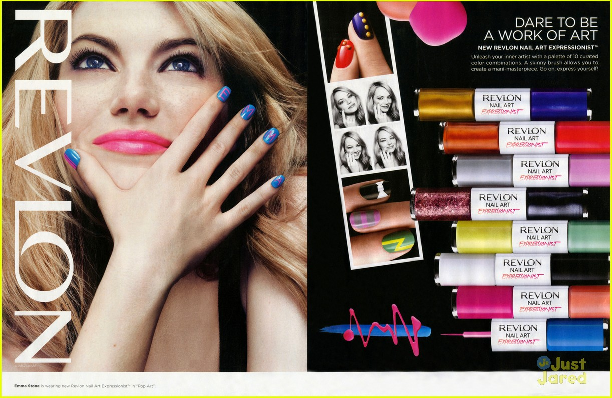 emma stone blonde revlon ads 02