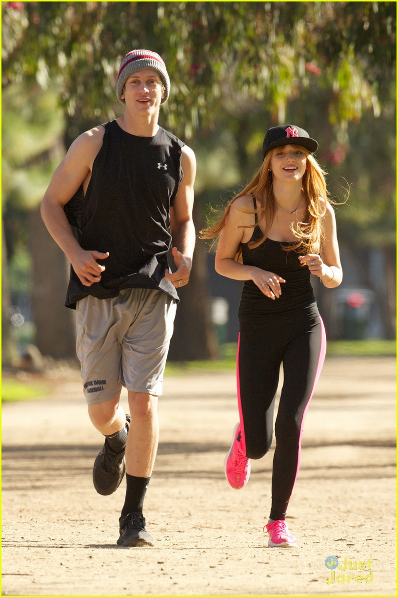 bella thorne tristan klier park workout 06