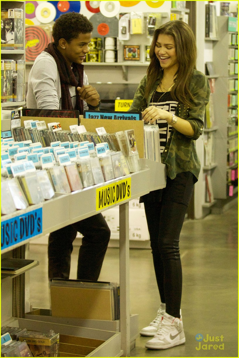 zendaya trevor jackson record store duo 05