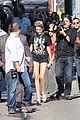 Cyrus-jklarr3 miley cyrus jimmy kimmel live arrival 2 12