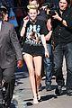 Cyrus-jklarr3 miley cyrus jimmy kimmel live arrival 2 35