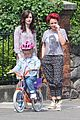 Lily-bicycle lily collins bicycle ride watch 11