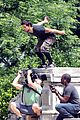 Tay-jump taylor lautner bike riding for tracers filming in nyc 11