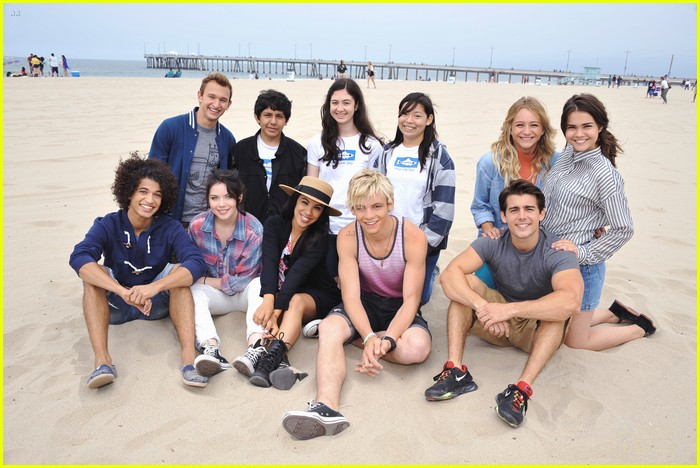 teen beach musical cast beach cleanup 01