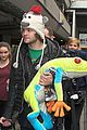 Wanted-frog the wanted jay mcguiness carries froggy friend at the airport 07