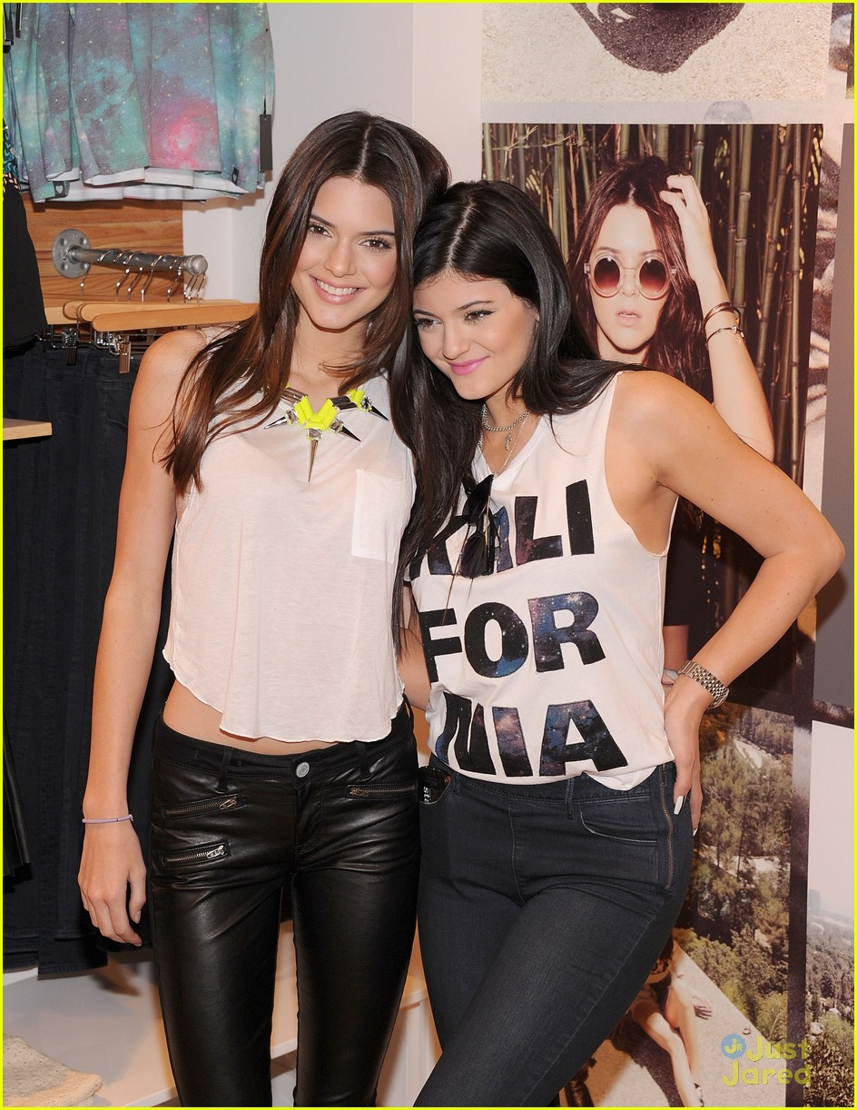 About This Photo Set: Kendall and Kylie Jenner hit up the PacSun NYC