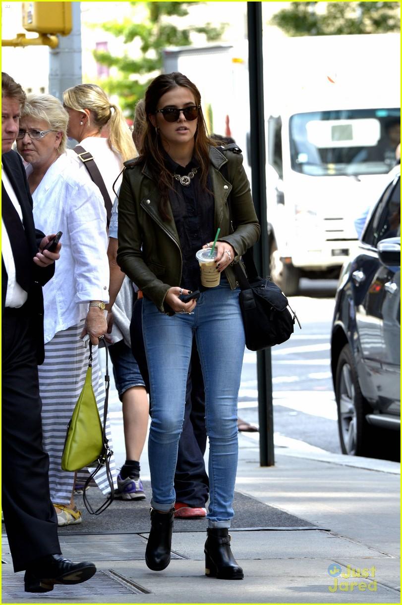 Zoey Deutch leather jacket