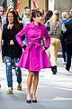 Lea-pink lea michele pink coat glee nyc 08