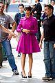 Lea-pink lea michele pink coat glee nyc 11