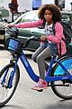 Q-bike quvenzhane wallis steals=bike for annie filming 02