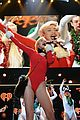 Miley-atl miley cyrus santa body suit at atlanta jingle ball 21