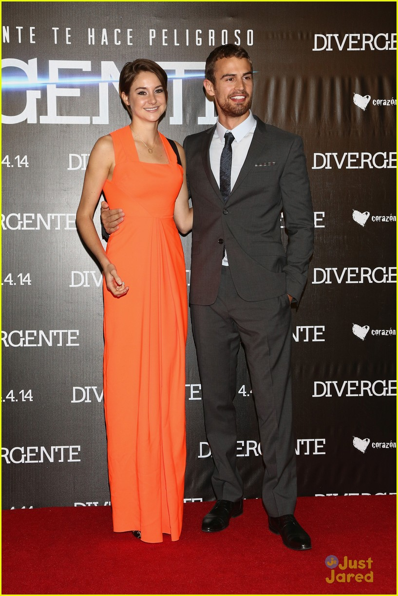 Shailene Woodley's beauty secret: Be pregnant with the ...  Shailene Woodley And Theo James Divergent Premiere
