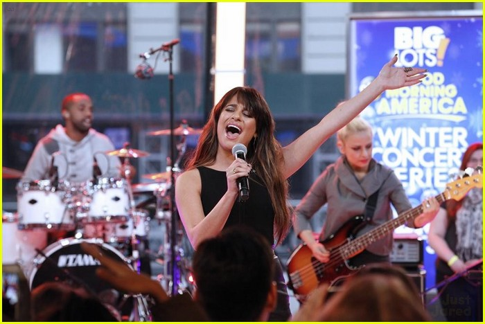 Lea michele kelly michael gma performance 06