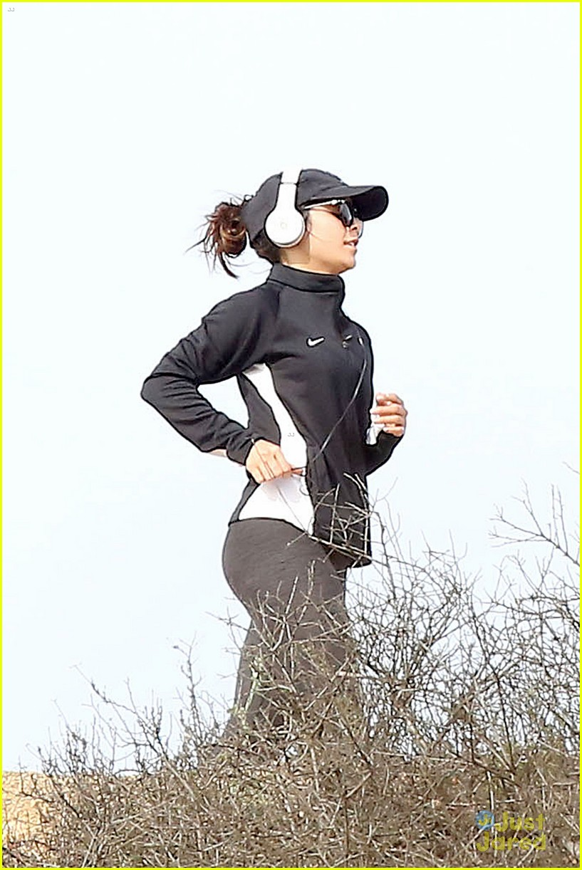 vanessa hudgens celebrates the first day of spring jog 07