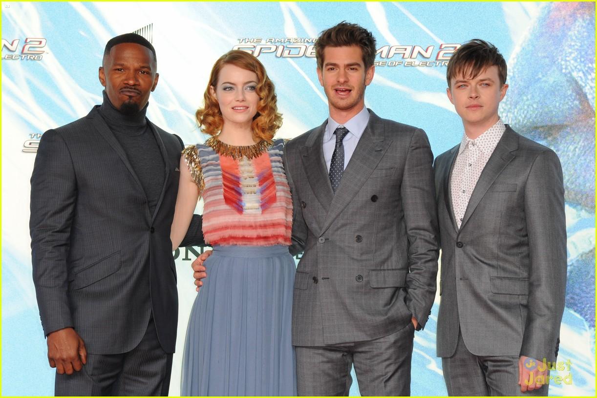 Andrew Garfield And Emma Stone Spiderman 2 Premiere